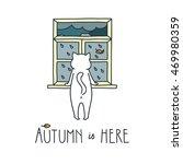 Autumn Is Here. Doodle Vector...