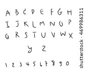 alphabet font type letters and... | Shutterstock . vector #469986311