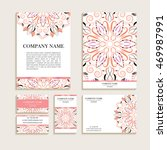 set of business cards. template ... | Shutterstock .eps vector #469987991