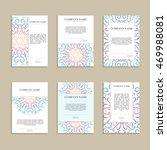 set of business cards. vintage... | Shutterstock .eps vector #469988081