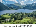 panorama view of ullswater lake ...