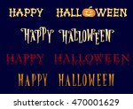set of happy halloween title in ... | Shutterstock .eps vector #470001629