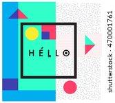 trendy geometric elements... | Shutterstock .eps vector #470001761