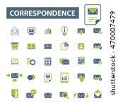 correspondence icons | Shutterstock .eps vector #470007479
