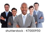 portrait of joyful business... | Shutterstock . vector #47000950