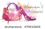 women's accessories poster. bag ... | Shutterstock .eps vector #470010605