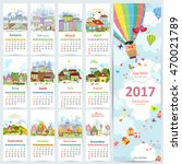 calendar for 2017 with...   Shutterstock .eps vector #470021789