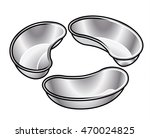 a set of three stainless steel... | Shutterstock .eps vector #470024825