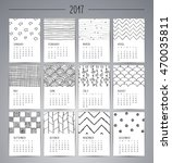 calendar 2017. templates with... | Shutterstock .eps vector #470035811