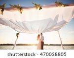 wedding. wedding by the sea.... | Shutterstock . vector #470038805