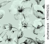 seamless pattern with flowers ... | Shutterstock . vector #470040131
