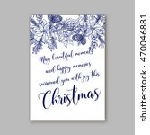 floral merry christmas... | Shutterstock .eps vector #470046881