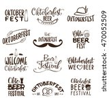 oktoberfest typographic design... | Shutterstock .eps vector #470052509