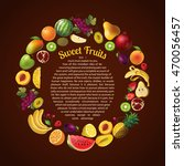 fruits round composition with... | Shutterstock .eps vector #470056457