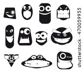 set of funny freak faces ...   Shutterstock .eps vector #470059955