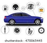 realistic car. sedan | Shutterstock .eps vector #470065445