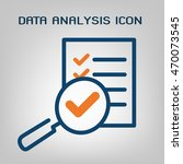 data analysis icon. laconic... | Shutterstock .eps vector #470073545