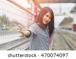portrait of a young beautiful... | Shutterstock . vector #470074097