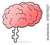 freehand drawn cartoon brain | Shutterstock . vector #470075027