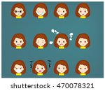 set cartoon face vector | Shutterstock .eps vector #470078321