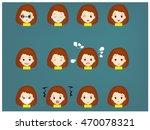 set cartoon face vector | Shutterstock .eps vector #470078321