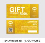 gift voucher vector design... | Shutterstock .eps vector #470079251