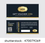 gift voucher vector design... | Shutterstock .eps vector #470079269