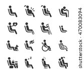 priority seat icons for public... | Shutterstock .eps vector #470083094