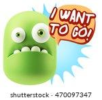 3d rendering sad character... | Shutterstock . vector #470097347