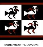 ethnic pattern of american... | Shutterstock .eps vector #470099891