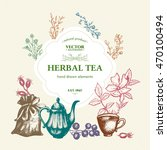 herbal tea vintage template ... | Shutterstock .eps vector #470100494