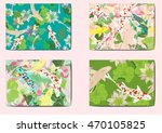 set vector stripes lotus and... | Shutterstock .eps vector #470105825