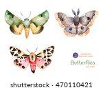 set of high quality hand... | Shutterstock . vector #470110421