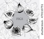 Hand Drawn Figs Set