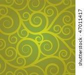 Green Swirl Seamless Pattern
