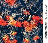 imprints meadow grass. hand... | Shutterstock . vector #470117369