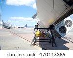 Small photo of Broken airbridge at Sofia airport. Bulgaria.
