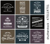 friendship. typography quotes. | Shutterstock .eps vector #470119751