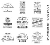 friendship. typography quotes. | Shutterstock .eps vector #470119775