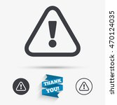 attention sign icon.... | Shutterstock .eps vector #470124035
