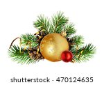 Christmas Decoration With Pine...