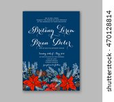 floral wedding invitation with... | Shutterstock .eps vector #470128814