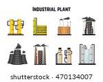 industrial buildings and... | Shutterstock . vector #470134007