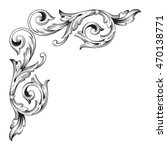 vintage baroque corner scroll... | Shutterstock .eps vector #470138771