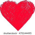 hand drawn heart vector icon | Shutterstock .eps vector #470144495