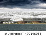 tsunami disaster that threatens ... | Shutterstock . vector #470146055