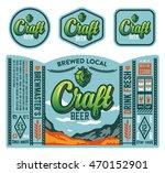 vector craft beer label design. | Shutterstock .eps vector #470152901