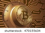 concept of gold bitcoin like a... | Shutterstock . vector #470155634