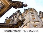 gargoyles on the saint vitus... | Shutterstock . vector #470157011