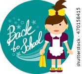 back to school. little... | Shutterstock .eps vector #470158415